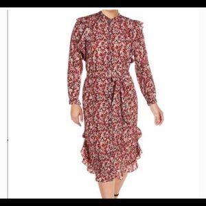 Lauren Ralph Lauren Vasha Tie Waist Floral Dress